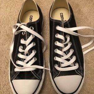 Brand new black leather converse